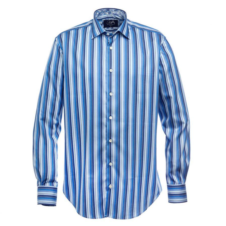 Henry Arlington Alex Blue Stripe Shirt