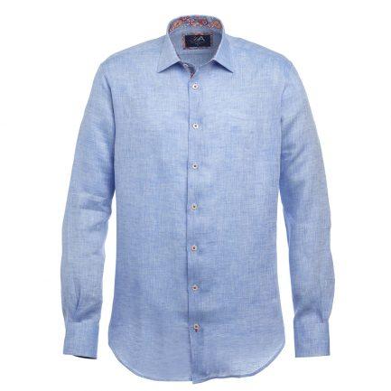 Andros Blue Linen Shirt