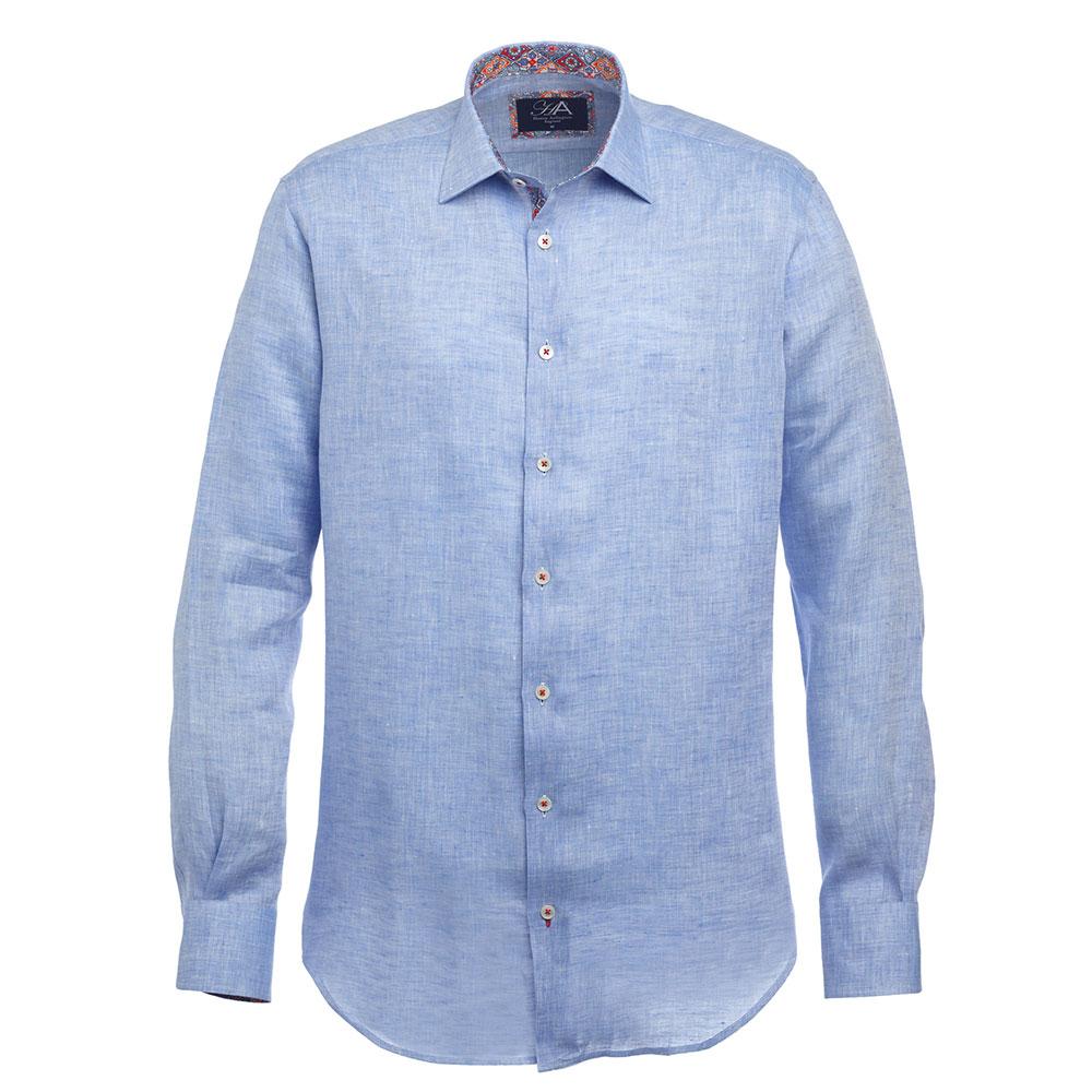 3e3bc9887a09 100% Linen Men s Blue Shirt - Henry Arlington England