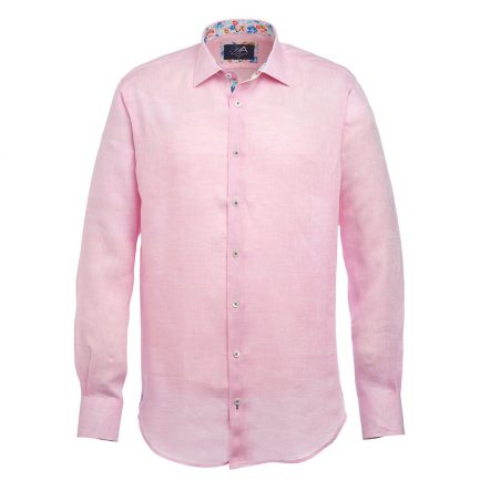 Andros Pink Linen Shirt