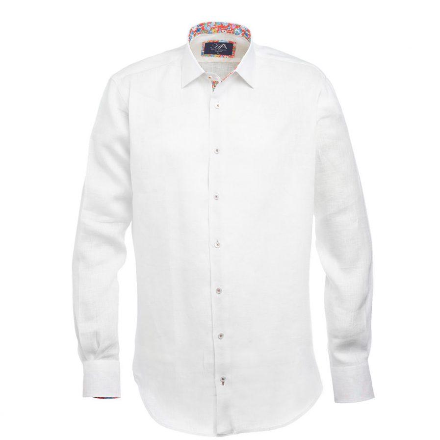 Andros White Linen Shirt