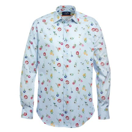 Aster Sky Printed Men's Shirt