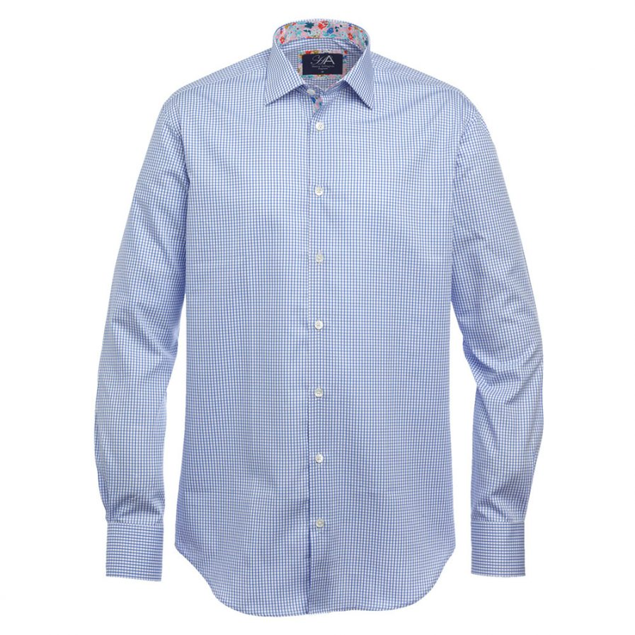 Axton Blue Check Shirt