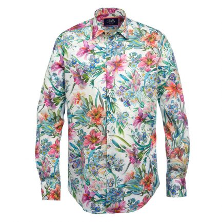Bell Orange floral Print Men's Shirt