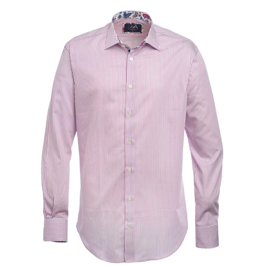 Bishop Lilac Stripe Mens Shirt
