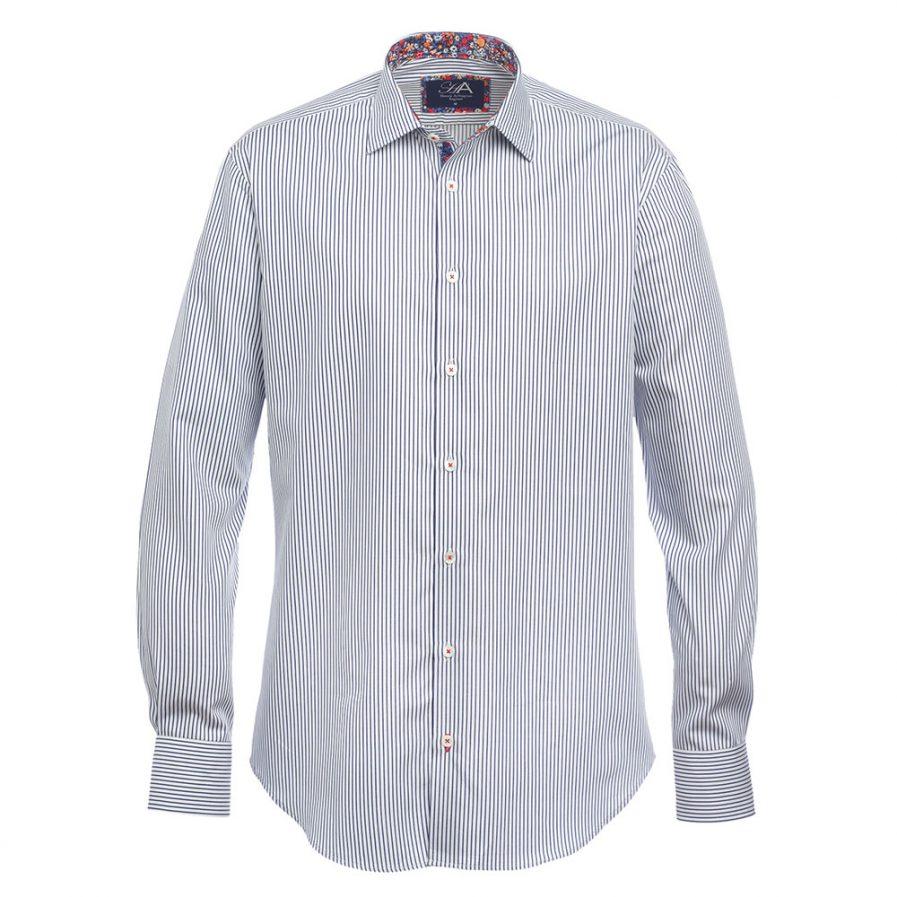 Bishop Navy Stripe Mens Shirt
