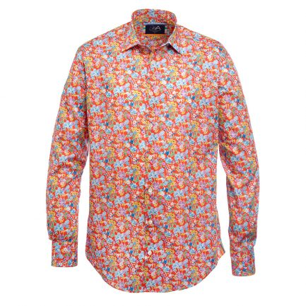 Bloom Orange Liberty Print Men's Shirt