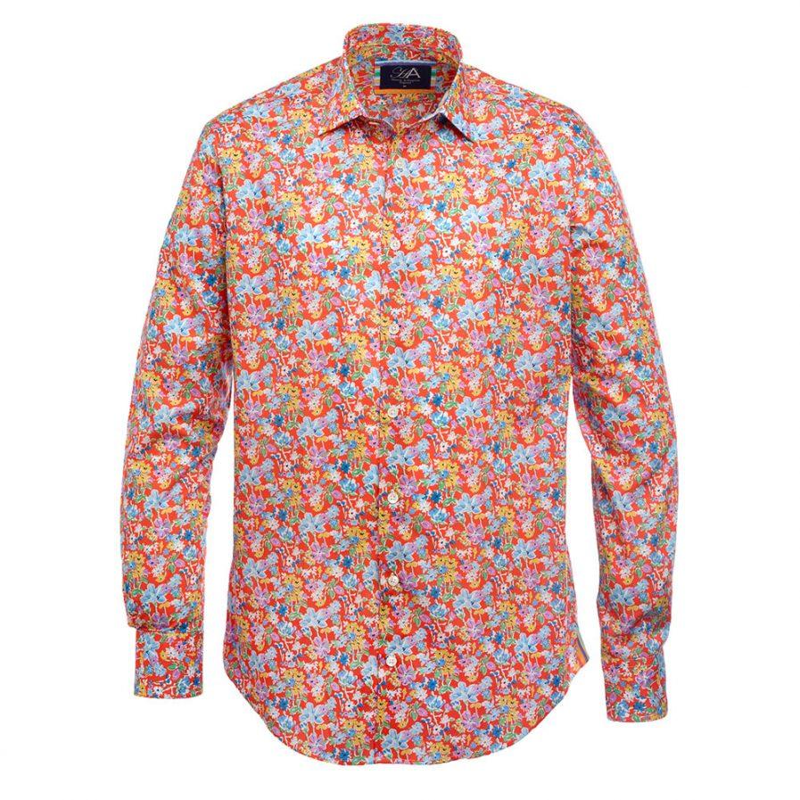 Bloom Orange Liberty Print Men's Shirt