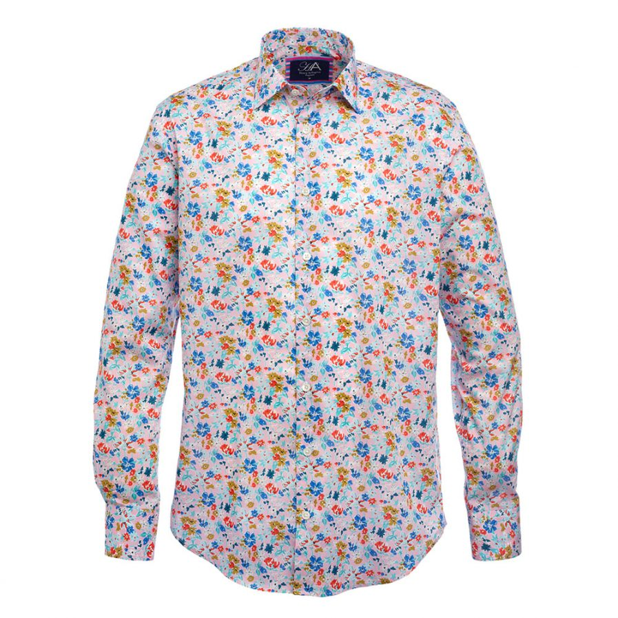 Bloom Pink Liberty Print Men's Shirt