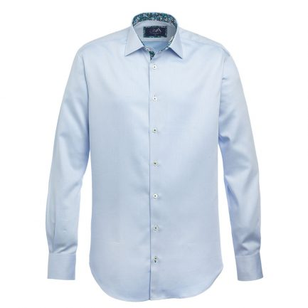 Gower Blue Men's Herringbone Shirt
