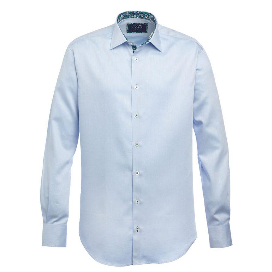 Gower Blue Men's Herringbone Shirt