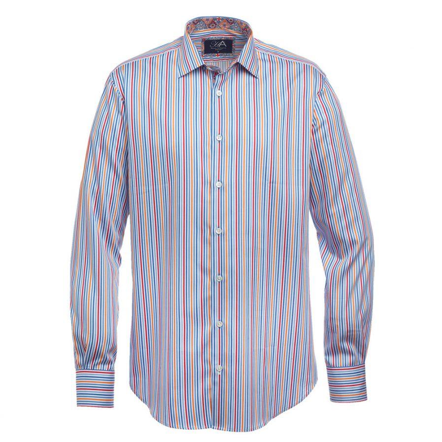 Henry Arlington Red Stripe Men's Shirt