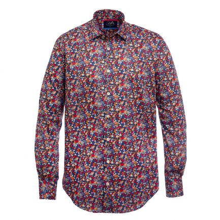 Hector Orange Liberty Print Men's Shirt