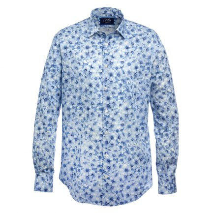Radstock Blue Liberty Print Men's Shirt
