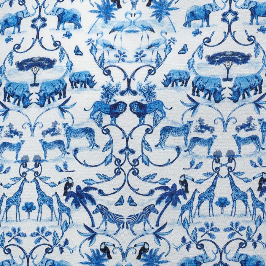 Henry Arlington Sumatran Blue Printed Men's Shirt Swatch
