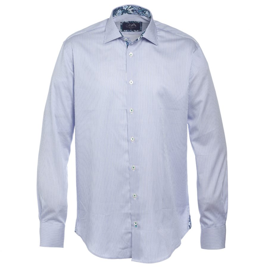 Henry Arlington Men's Blue Stripe Shirt