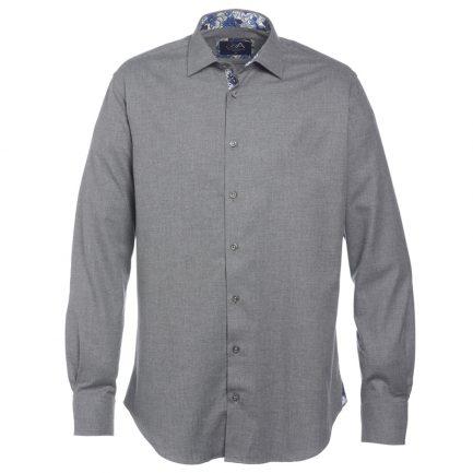 Henry Arlington Men's Grey Herringbone Shirt
