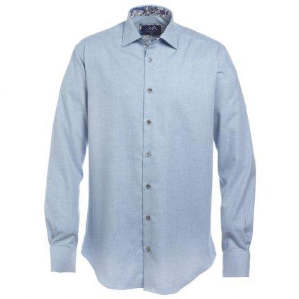 Henry Arlington Men's Sky Blue Herringbone Shirt