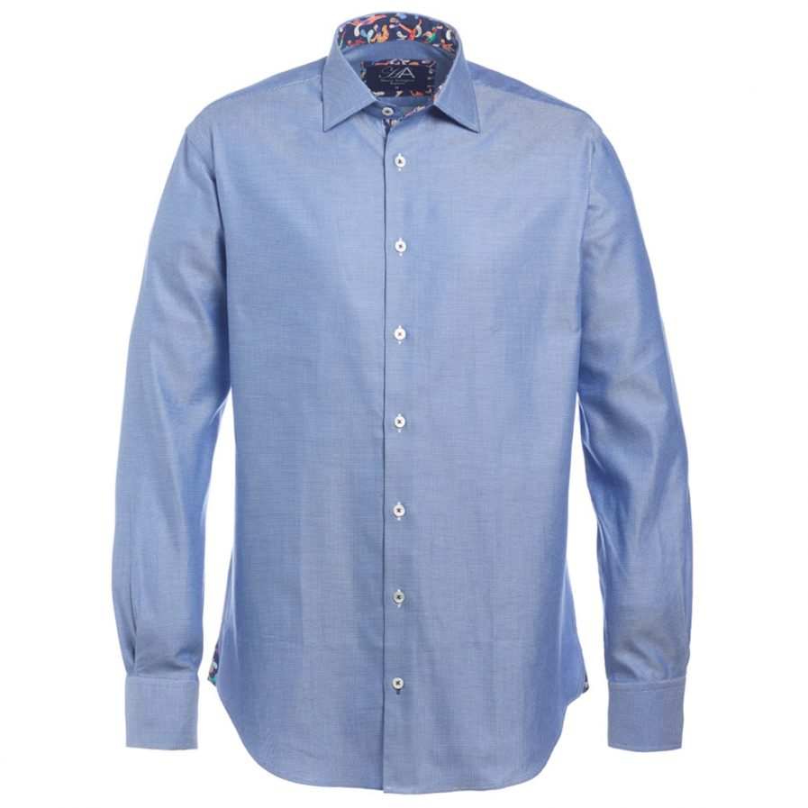 Henry Arlington Men's Blue Textured Shirt