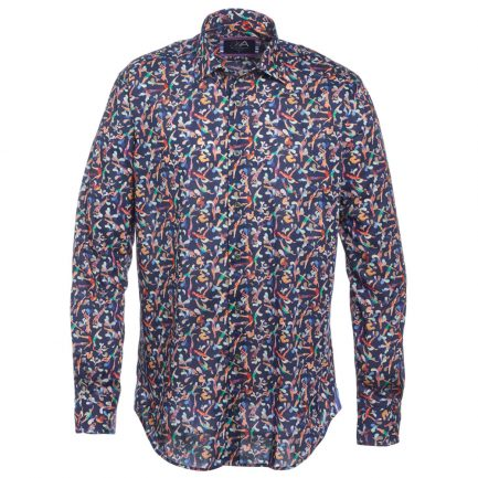 Henry Arlington Men's Blue Swimming Shirt
