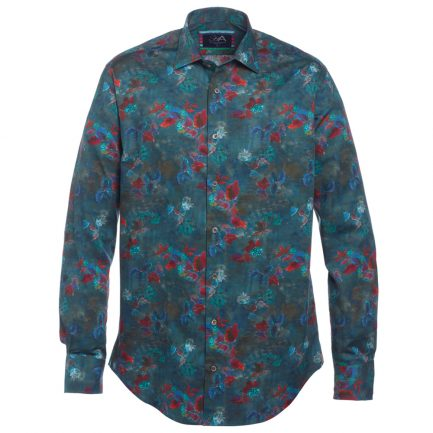 Henry Arlington Men's Blue Floral Shirt