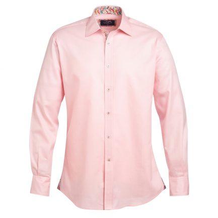 Henry Arlington Men's Sky Blue Textured Shirt