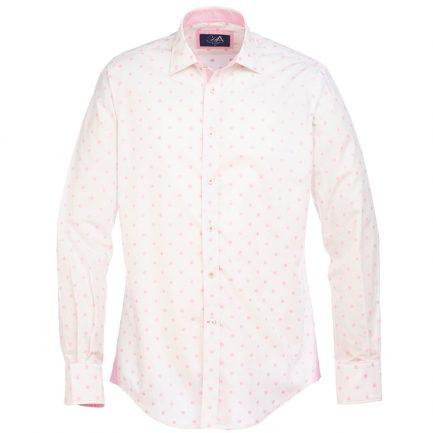 Henry Arlington Men's Pink Spot Shirt
