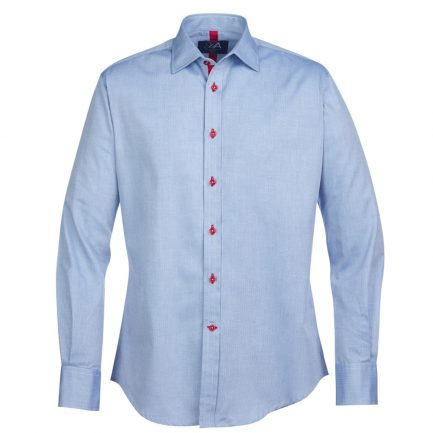 Henry Arlington Men's Sky Blue Herringbone Shirt