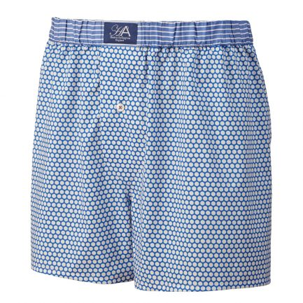 Henry Arlington Blue with White Spots Boxer Shorts