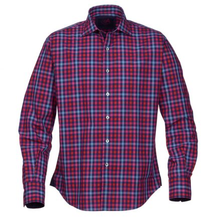 Henry Arlington Men's Blue and Pink Check Shirt