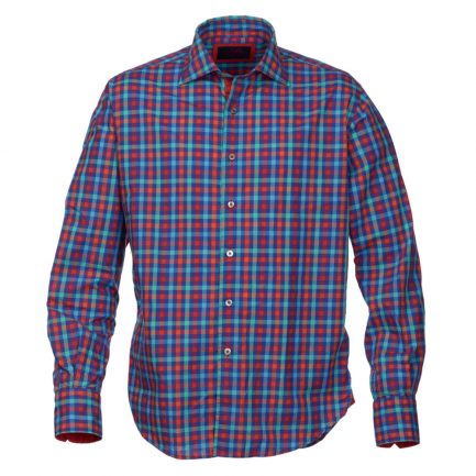 Henry Arlington Men's Blue and Red Check Shirt