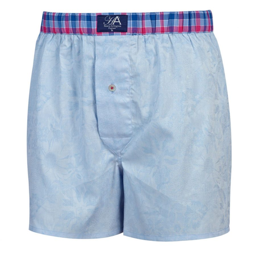 Henry Arlington Blue Floral Boxer Shorts