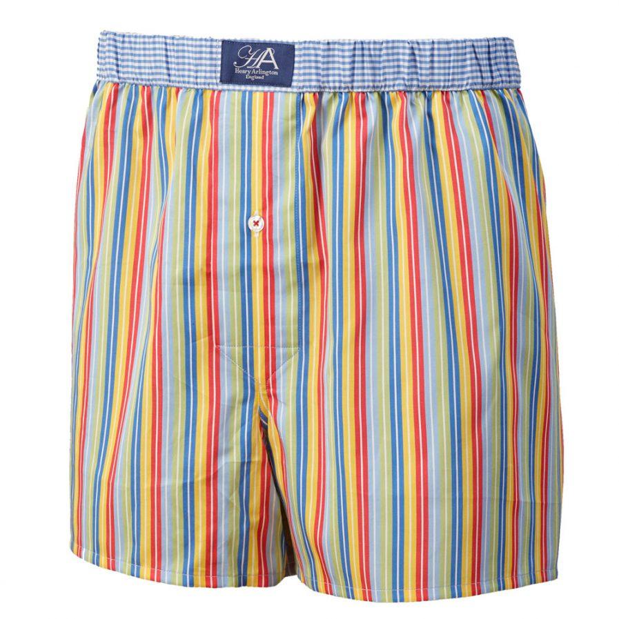 Henry Arlington Tonal Blue Stripe Boxer Shorts