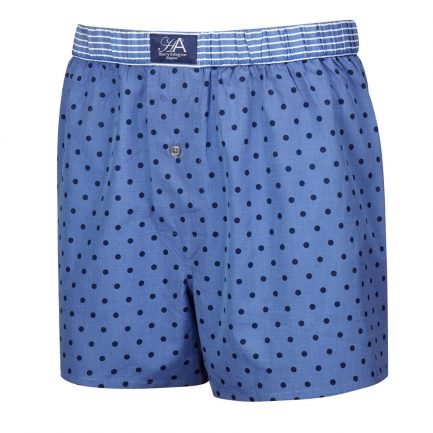Henry Arlington Blue with Navy Spots Boxer Shorts