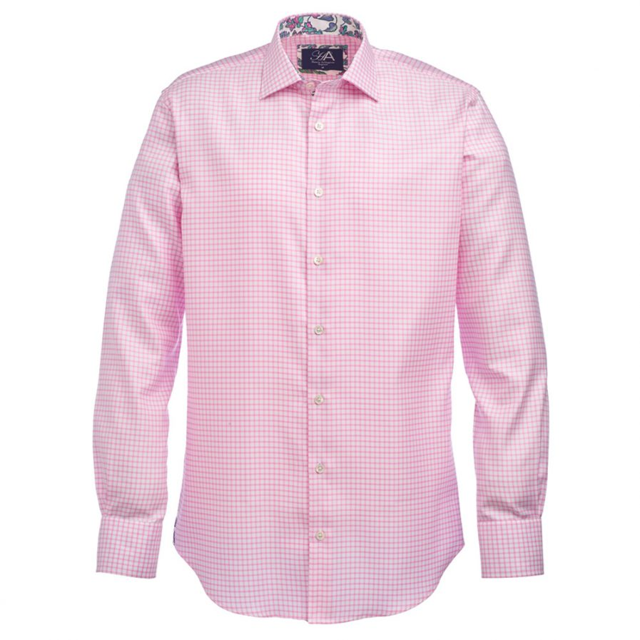 Henry Arlington Men's Pink Check Shirt