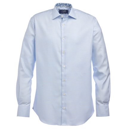 Henry Arlington Men's Blue Check Shirt