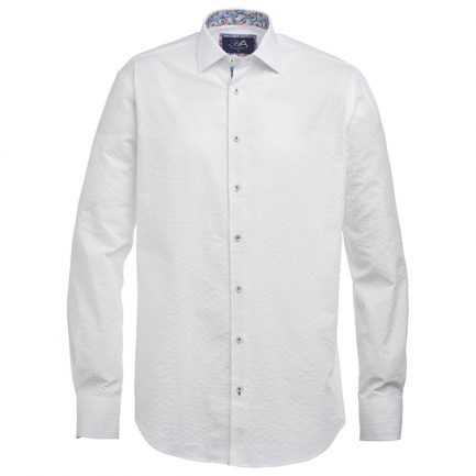 Henry Arlington Men's White Seersucker Shirt