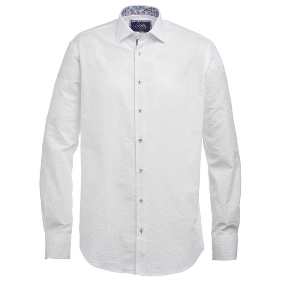 Henry Arlington Men's White Seersucker Shirt