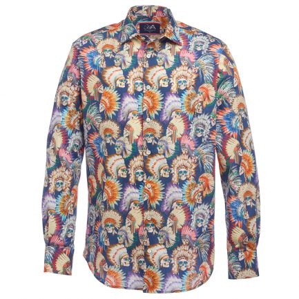 Henry Arlington Men's Skull Print Shirt