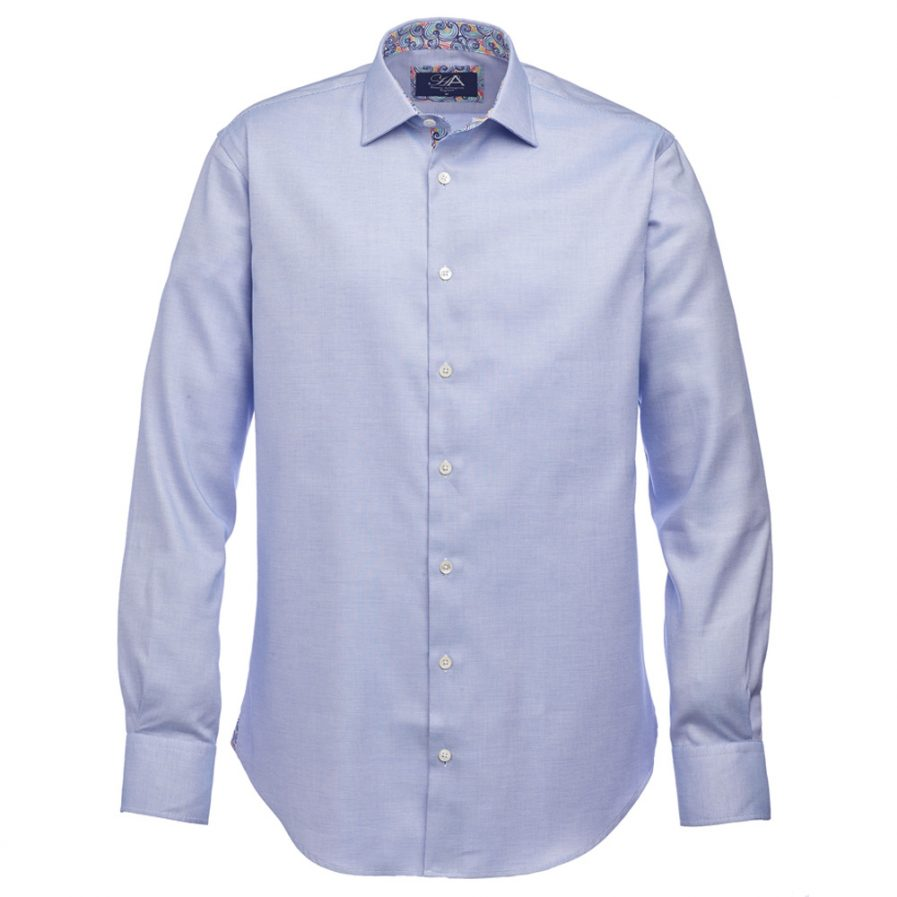 Henry Arlington Men's Blue Basket Weave Shirt