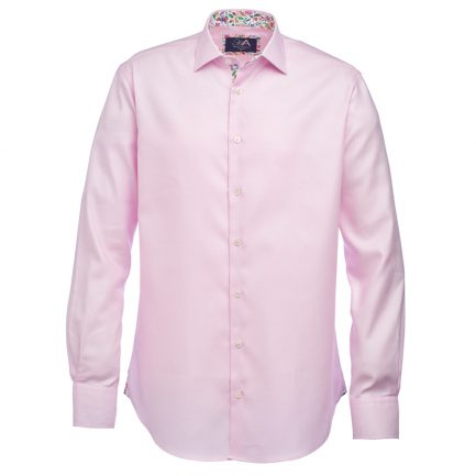 Henry Arlington Men's Pink Basket Weave Shirt