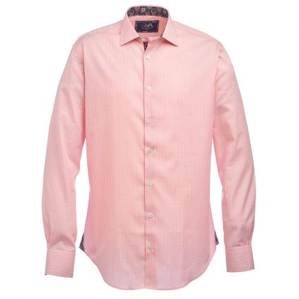 Henry Arlington Men's Pink Gingham Check Shirt