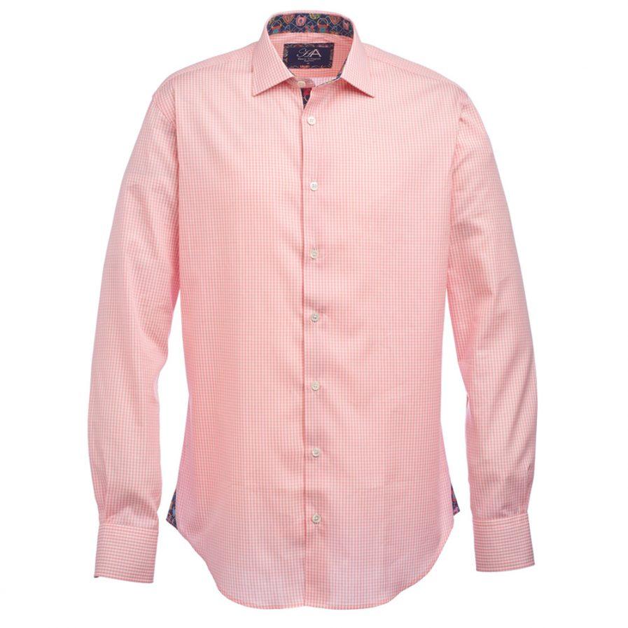 Henry Arlington Men's Pink Gingham Check Shirt