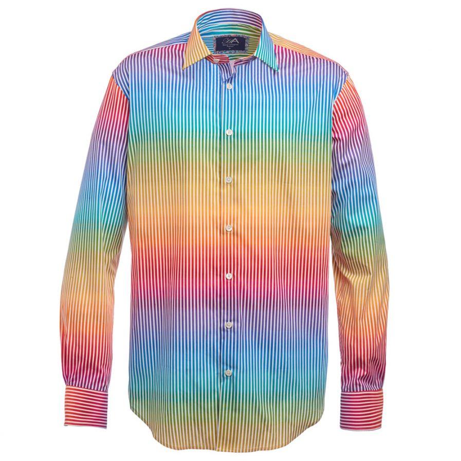 Henry Arlington Men's Rainbow Stripe Shirt