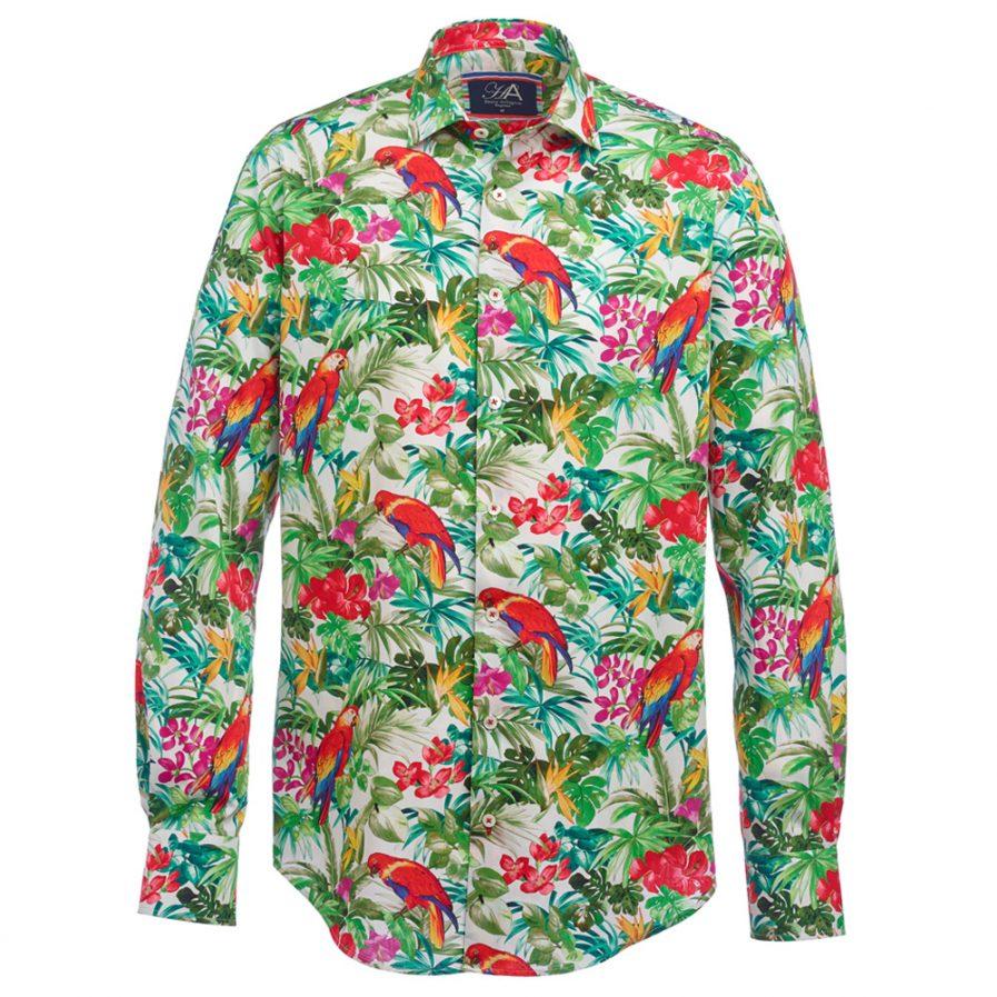 Henry Arlington Men's Parrot Print Shirt