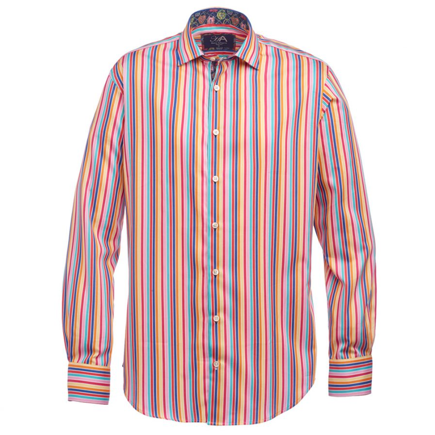 Henry Arlington Men's Multicoloured Stripe Shirt