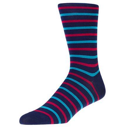 Aston Aqua Stripe Socks