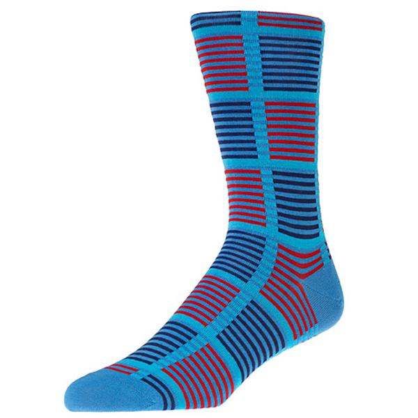 Holt Aqua Check Socks