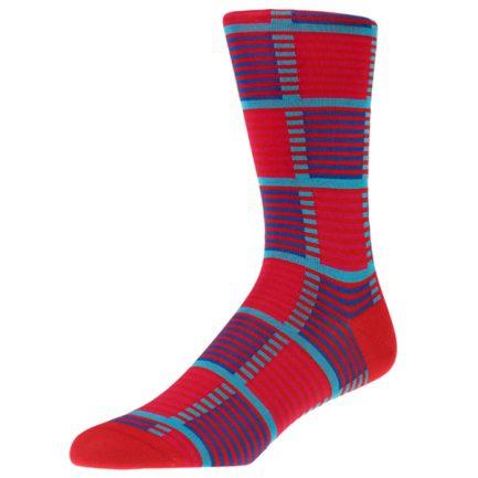 Holt Scarlet Check Socks