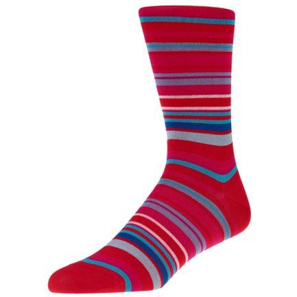 Navai Scarlet Stripe Socks